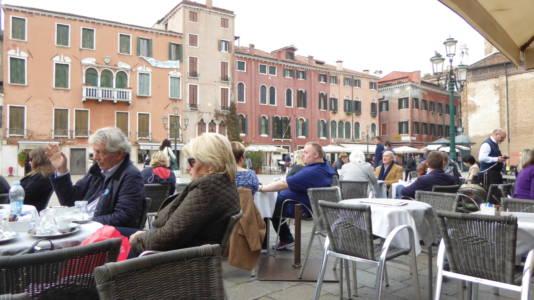 Le Café på Campo Santo Stefano