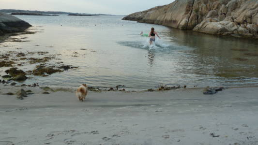 Strand vestsiden Ramsö
