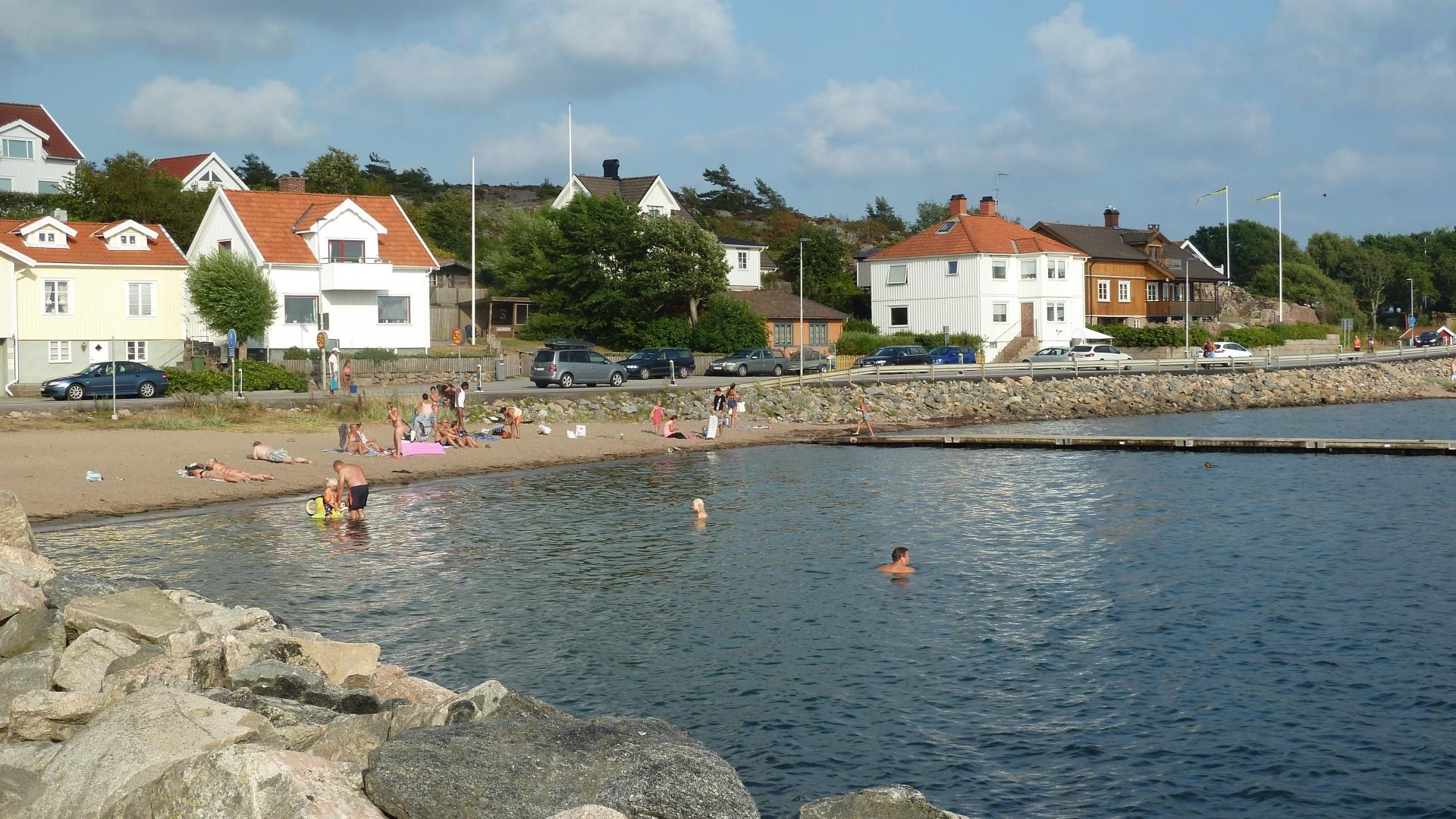 Stranden i Gräbbestad