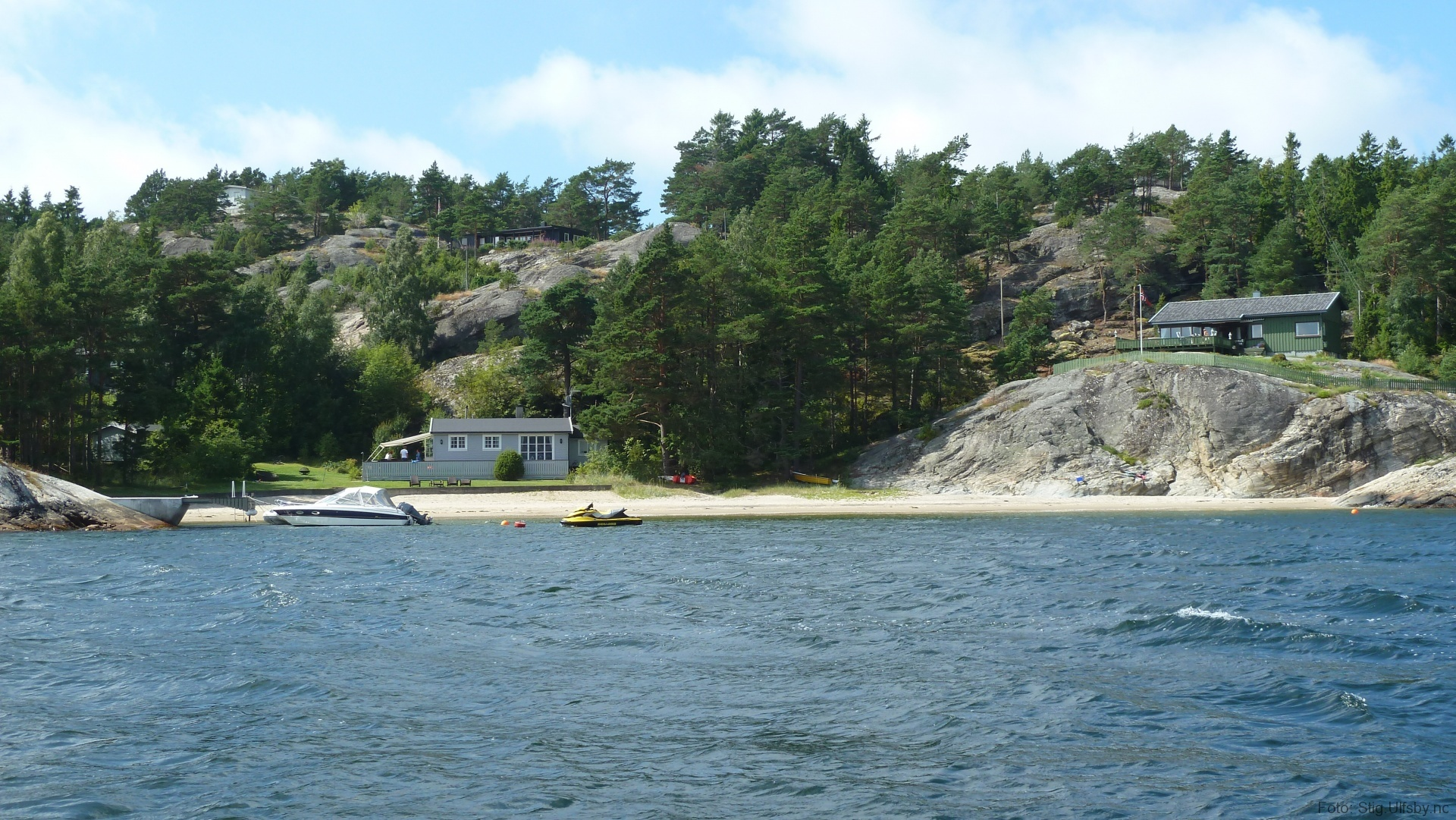Storhavna på Søndre Sandøy, Hvaler juli 2010