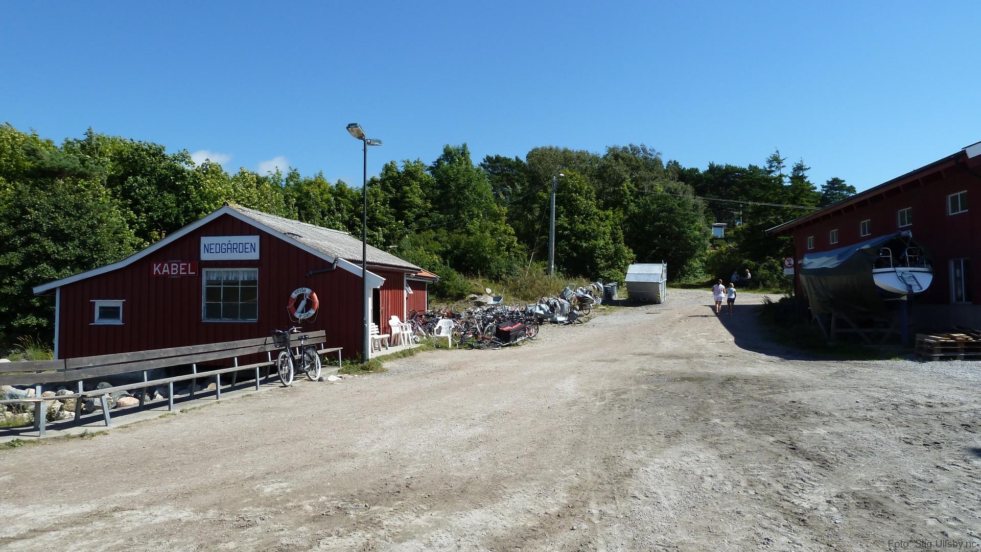 Nedgården brygge på Søndre Sandøy, Hvaler juli 2010