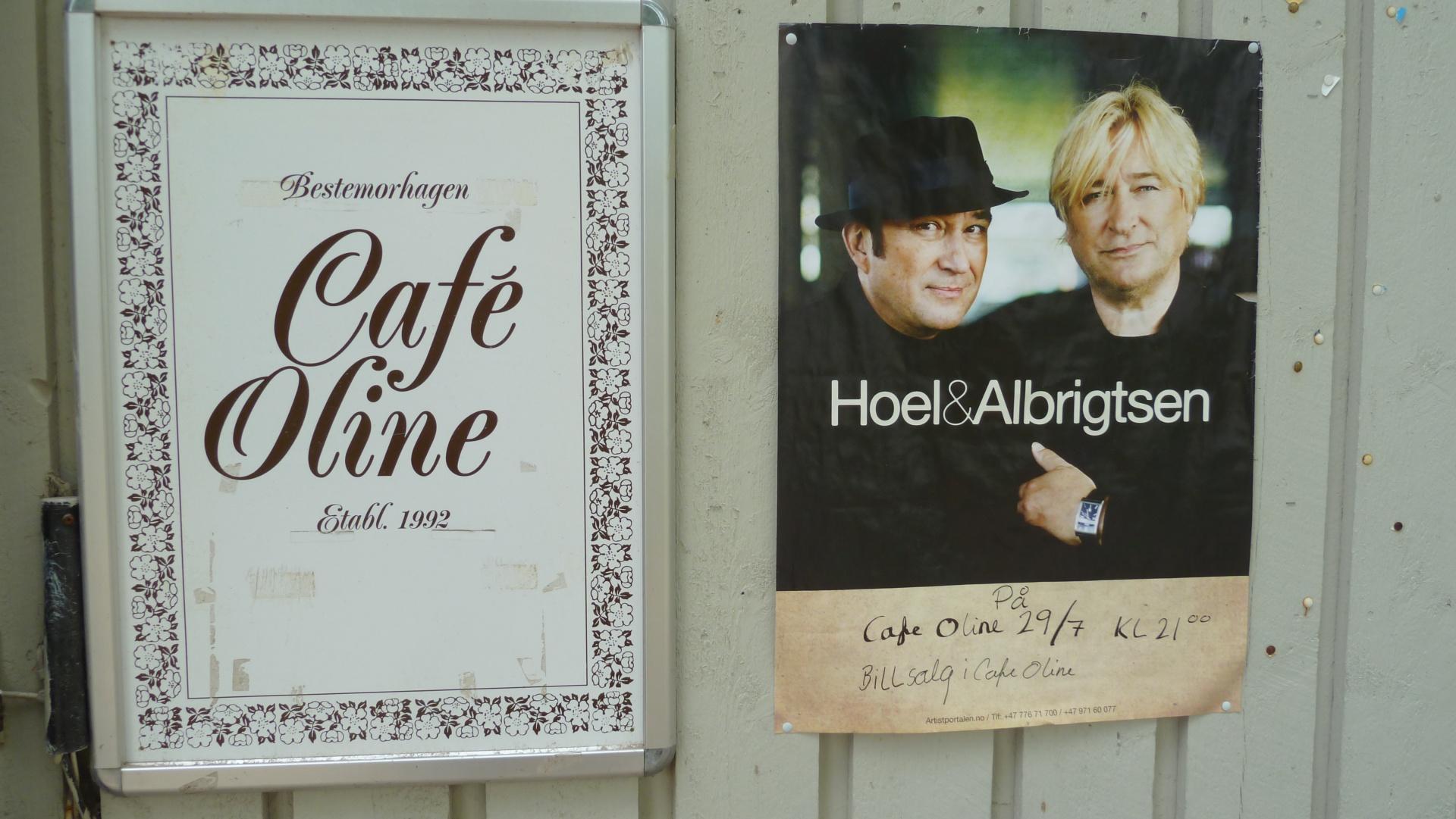 Cafè Oline, Søndre Sandøy, Hvaler juli 2010