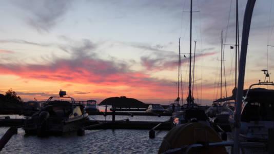 Aften i Ekenäs havn