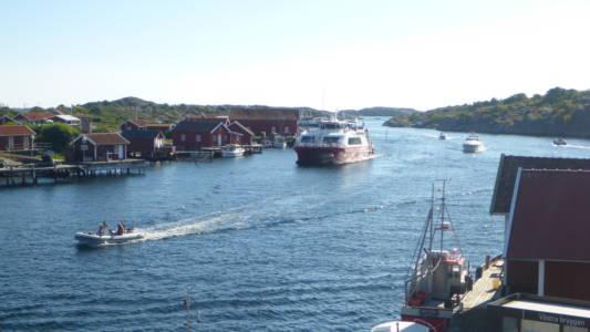 Kostersundet sett fra Vestra Bryggan, Nord-Koster